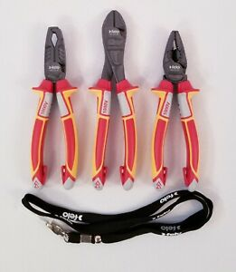 Felo Insulated Pliers Package W Lanyard New Made In Germany