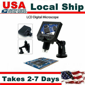 Portable Lcd 3 6mp Digital Microscope Magnification Magnifier Built in Battery