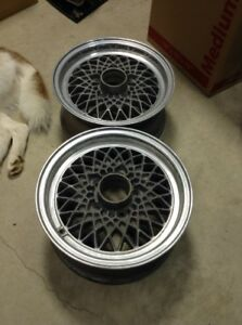 2x Pair Of Bbs Ra 14x6 Et 35 5x112 Mercedes