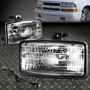For 00 03 Chevy S10 Xtreme Clear Lens Bumper Driving Fog Light Lamps W switch