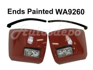 Painted Wa9260 Front Bumper Ends Fog Light Filler For Silverado 1500 2008 2013