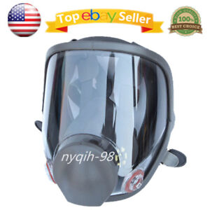 Us Full Facepiece Silicone Large Gas Mask Spraying For 6800 Respirator Light