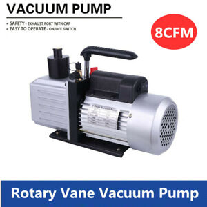 220v Vacuum Pump 3 4hp 8cfm Rotary Vane Single Stage Air Conditioner 7 16 20unf