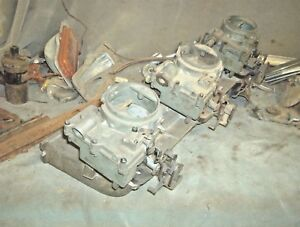 Man A Fre 292 230 250 Chevrolet 6 Cylinder Manifold With Man A Fre Carburetors