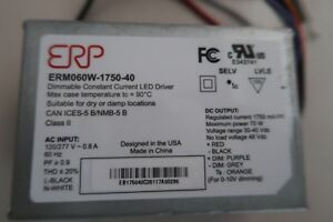 Erp Erm060w 1750 40 Dimmable Constant Current Led Driver 60w 1750ma 40vdc Qty 3