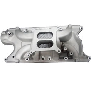 E force Aluminum Sbf Intake Manifold Ford 289 302 347 Dual Plane Air Gap