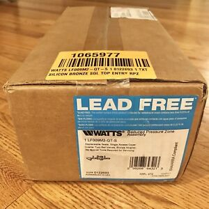 Watts 1 Lf009m2 qt s Reduced Pressure Zone Assembly Edp 0122693 brand New Box