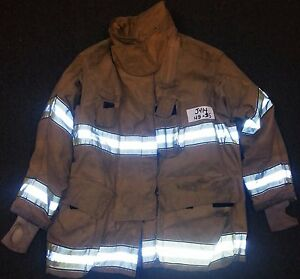 48x35 Firefighter Jacket Coat Bunker Fire Turn Out Gear Globe Gxtreme J414