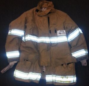 46x35 Firefighter Jacket Coat Bunker Fire Turn Out Gear Globe Gxtreme J415