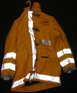 42x35 Firefighter Jacket Coat Bunker Turn Out Gear Globe Fire Gear J475