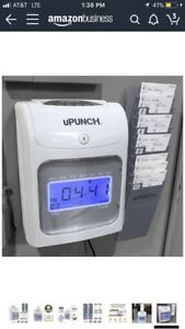 Time Clock Machine Recorder Payroll Cards Employee Attendance Upunch Hn4000