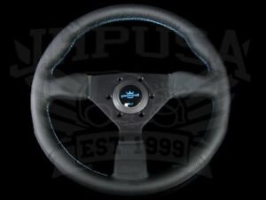 Personal Neo Grinta 350mm Steering Wheel Blk Leather Blue Stitch 6497 35 2093 C