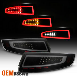 Fit 2005 2008 Porsche 911 997 Carrera Gt2 Gt3 Black Smoked Led Tube Tail Lights