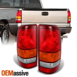 Fit 99 02 Silverado 99 03 Sierra Tail Lights Brake Lamps Replacement L Rs