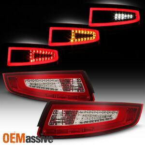 Fit 2005 2006 2007 2008 Porsche 911 997 Carrera Gt2 Gt3 Red Led Tube Tail Lights