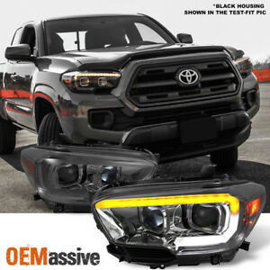 Fits 2016 2020 Tacoma Trd Limited Sequential Smoked Led Projector Headlights