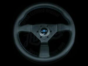 Personal Grinta Perforated Leather Steering Wheel W Blue Stitching 6497 33 2093
