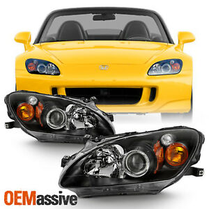 Fits 2000 2003 Honda S2000 Amber Projector Hid Xenon Headlights Replacement Pair