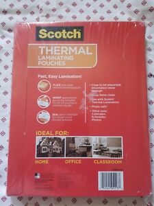 Scotch 3m Thermal Laminating Pouches 200 Count 8 X 11 Tp3854 200 New v
