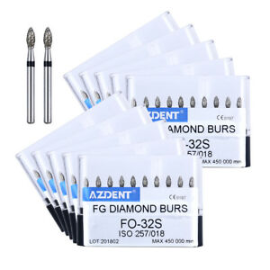 100 Kits Dental Diamond Fg Burs Fo 32s Super Coarse For High Speed Handpiece New