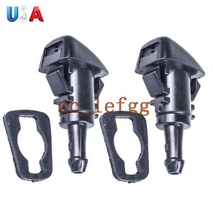2x Windshield Washer Wiper Water Spray Nozzle For Chrysler 300 Dodge Charger Ram