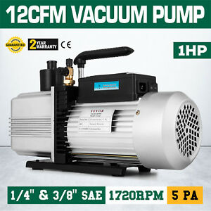 12cfm Vacuum Pump Single Stage Rotary Vane 34 5 Pounds Inlet Port