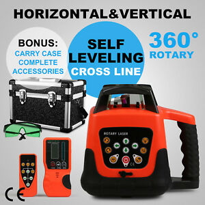 Rotary Laser Level Green Beam Automatic 500m Range 5 Degree Easy Operation