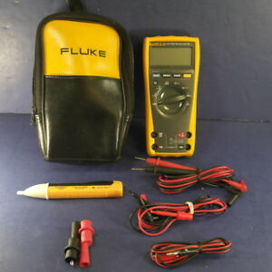 Fluke 177 Trms Multimeter Excellent Condition Soft Case Accessories