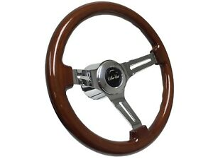 1970 1988 Monte Carlo S6 Sport Mahogany Finish Wood Steering Wheel Covert Kit