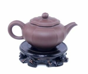 Yixing Zisha Clay Flower Petal Shaped Teapot Tea Brewing 270ml 11081603