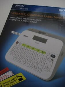 new With Box Brother P touch Pt d400 Label Maker Labels Tze Satin Gold Tape