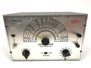 Vintage Eico Model 377 Sine And Square Wave Audio Signal Generator