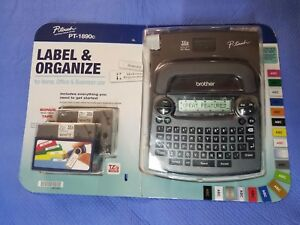 Brother P touch Pt 1890c Deluxe Home Office Labeler 2 Bonus Wider 18mm Tapes