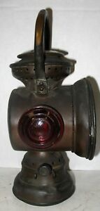Early Gray And Davis Brass Bale Tail Lamp Ford Cadillac Model T Rambler Stanley