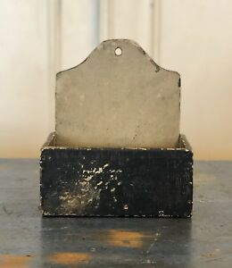 Late 19th Early 20th Century Original Painted Folk Art Wall Box Antique Old