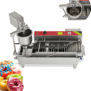 304 Commercial Automatic Electric Donut Making Machine Donut Fryer 110v