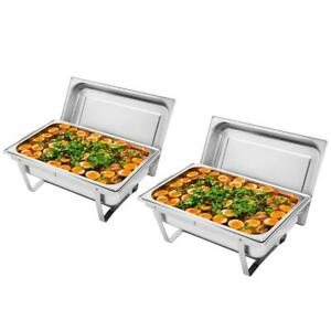 6 Pack Catering Stainless Steel Chafer Chafing Dish Sets 8 Qt Party Pack