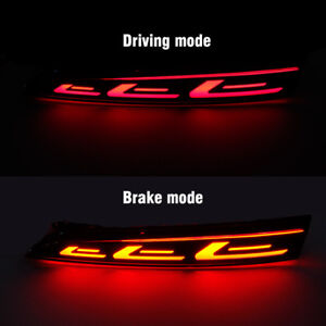 Red Led Rear Bumper Tail Brake Light Lamp For Hyundai Solaris Accent 2017 2018