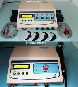Chiropractic Combo Portable Ultrasound Therapy Electrotherapy Units 2 Machine 54
