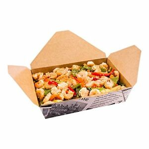 Disposable Take Out Container 2 To Go Box Eco friendly Paper Rectangle 49