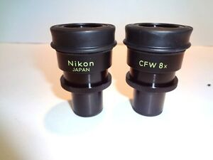 Nikon Cfw8x Paired Widefield 8x Eyepieces Nice Look New