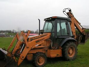 Case 580 Super L Series 2 Backhoe Loader Tractor 4x4 Cab Price Rduced