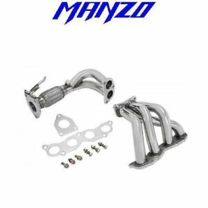 Manzo Stainless Steel Exhaust Header Downpipe Acura Tsx 2 4l K24a2 Jdm Accord