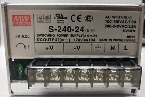 Mean Well S 240 24 Switching Power Supply 24v 10a Output Dc
