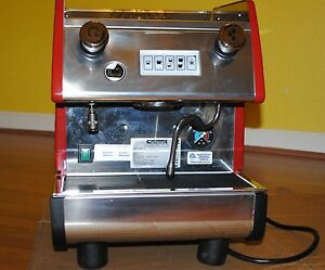 La Pavoni Pub 1v r 1 Group Commercial Espresso Cappuccino Machine Red As is