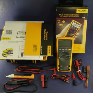 Fluke 179 Multimeter Calibrated Hard Case Box Extra Accessories