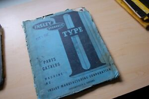 Insley Type H Wb P Crawler Excavator Trackhoe Parts Manual Catalog Book List