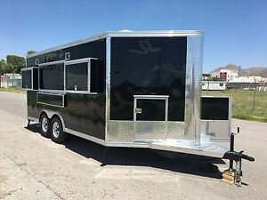 New Concession Food Bbq Event Trailer 16 X 8 5 With Tv Niches Equipped