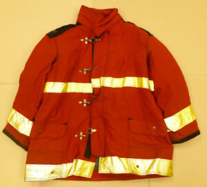 Janesville Lion 54x35 Red Firefighter Jacket Bunker Turn Out Gear J555