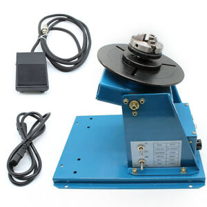Rotary Welding Positioner Turntable Mini 2 5 3 Jaw Lathe Chuck 110v Hot Sale